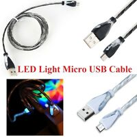 LED Light Micro USB Charging Data Sync Cable for Android Cell Phone - 40 Inch