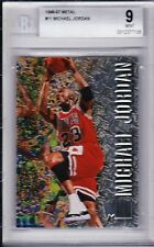 "1996-97 Metal #11 Michael Jordan (Chicago Bulls) ""MINT"" 9"
