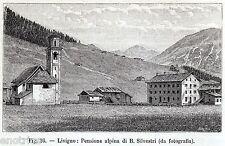 Livigno: Pensione Alpina Silvestri. Alta Valtellina. Sondrio. Lombardia. 1896