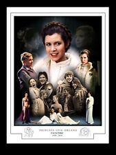 PRINCESS LEIA - CARRIE FISHER 1956 - 2016  MONTAGE PRINT