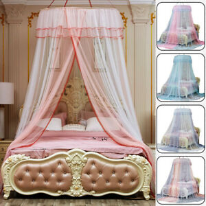 Mosquito Net Princess Hanging Dome Canopy Mesh Lace Bed Curtains Tent Foldable