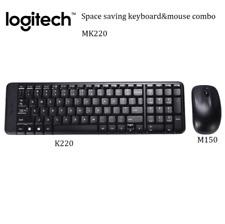 Space saving Logitech Wireless Keyboard Mouse MK220 Combo Laptop Desktop PC NEW