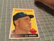1958 Topps Baseball Cards #88 Duke Snider
