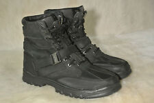 Mens Polo Ralph Lauren Demond Black Leather Ankle Work Boots Size 7