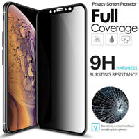 For iPhone 11 X Xs XR Max Full Coverage Anti-Spy Privacy Glass Screen Protector