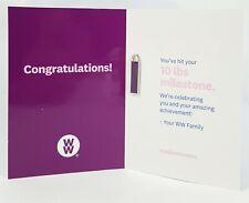 New Weight Watchers 10 lb  Milestone Weight Loss Charm Purple Silver WW