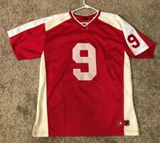 Mens Bigland Apparel Thug South #9 Jersey/Shirt Red & White Size Large/L