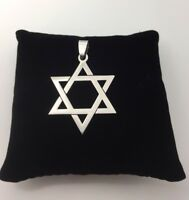 Beautiful Star Of David Stainless Steel Pendant for Protection SILVER