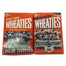 Dallas Cowboys Wheaties Boxes - 1993 and 1995 NFL Champions Commerative - New