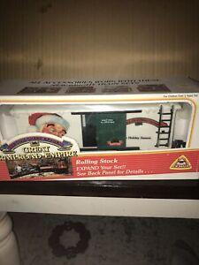 G Scale Train New Bright Christmas Box Car 3799