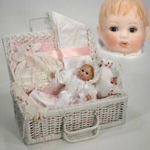 """New - Beverly Stoehr """"Sandra with Basket"""" One Of A Kind Porcelain Doll - NRFB"""