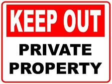 (3 X SIGNS) - KEEP OUT PRIVATE PROPERTY - CORFLUTE SIGN - 300 X 200MM