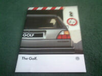 1987 VW GOLF C CL GL - 8/86 24pg UK MODEL BROCHURE MINT