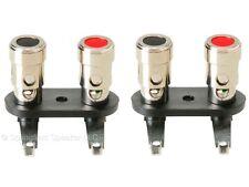 2 Pack of Spring Loaded Speaker Terminals - Nickel - binding posts