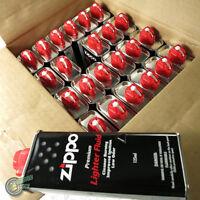 24 Zippos Cigarette Blu Lighter Hand Warmer Premium FLUID Fuel Petrol Refill 125