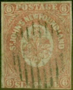 Newfoundland 1862 6d Rose-Lake SG20 Good Used (2)