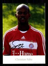 Christian Saba Autogrammkarte Bayern München II 2008-09 Original Signiert