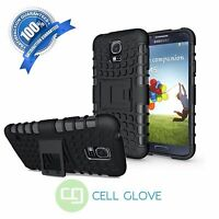 Black Armor Skin Hard Shockproof Case Rugged Cover Stand For Samsung Galaxy S5