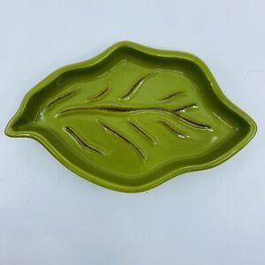 Tastefully Simple Host Collection Green Leaf Trinket Dish Spoon Rest