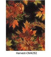 Fall Harvest Bounty Pumpkin corn leaf cotton quilt fabric Timeless Treasures BTY
