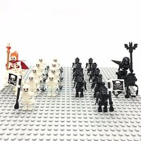 20Pcs/Set Black Skeleton Army + White Army of the Dead Building Blocks DIY Toys