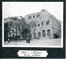 Algérie, Alger, une place  Vintage print Tirage argentique  7,5x10  Circa