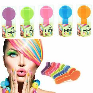 W7 Hair Chalk For Kids Temporary Wash Out Colour Streaks Green, Orange, Peach