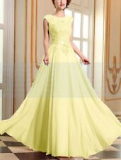 Long Lace Chiffon Evening Formal Party Ball Gown Prom Bridesmaid Dress Size 6~28