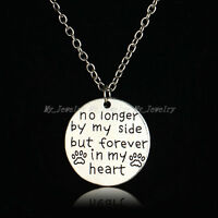 Encourage Necklace Pendant Heart Love Pet Dog Paw Jewelry Mom Dad BFF Nana Gift