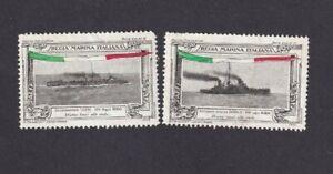 Cinderellas - Italy Naval Regia Marina Italiana 2 Poster Stamps