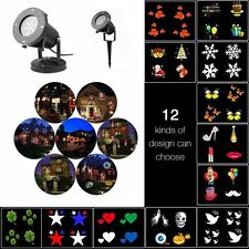 Moving Laser Projector LED Lights Outdoor Xmas Landscape Lamp Decor Waterproof