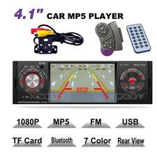 "4.1"" 1 DIN Car Stereo Bluetooth Auto Radio Audio MP3 Player with Reverse Camera"