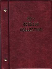 VSTBurgundy 20c. Album is for  Circulated Australian coins newpages 1966 to 2016