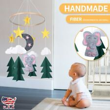 Baby Crib Mobile Felt Starry Woodland Night Nursery Windbell Decoration Us