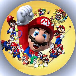 Tortenaufleger Geburtstag Party Tortenbild Fondant - Oblate Super Mario P11