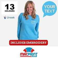 Uneek UC203 Personalised Embroidered Sweatshirts, Workwear, Customised Jumper