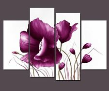 Canvas Print Painting Pictures Wall Art Home Decor Poster Purple Flower Framed