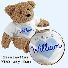 Personalised I Belong To Teddy Bear - Add Any Name - Gift Boy
