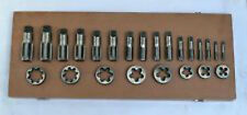 24 pcs NEW BRITISH STANDARD PIPE TAP & DIE BSP SET 1/8-1""