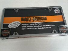 Harley Davidson Motorcycles Chrome Metal Auto Tag License Plate Frame
