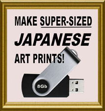 Print EXTRA LARGE Japanese Woodblocks - Restored Hi-Res A3 Images - ON USB STICK