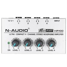 HA400 Ultra-compact 4 Channels Mini Audio Stereo Headphone Amplifer A6G8