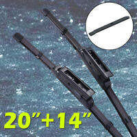 """20""""+14"""" Car Front Window Frameless Wiper Blades Fit Smart Forfour Fortwo 17-18"""