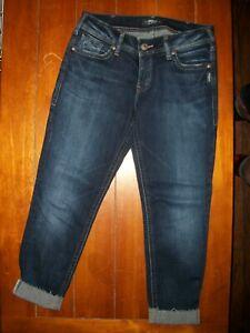 Silver Brand SUKI Super Skinny - stretch -  Jeans  size 31 x 27 cropped