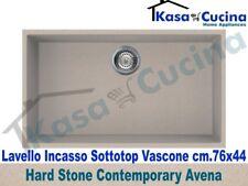 Lavello Incasso Sottotop Cucina Fragranite Avena cm.76X44 1 Vasca / Vascone