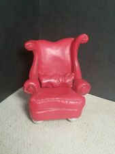 Take A Seat Raine Red Heart Dollhouse Chair Leather Look W/ Pillow 1999 #24005