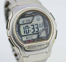 D054 Vintage Casio Wave Ceptor World Time Digital Quartz Watch WV-58J 3053 34.4