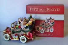 Fitz and Floyd Christmas Holiday Santa Classic Car Musical Music Box New w/ Box