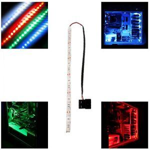 1x Blue/Red/Green modding PC Case Led strip light 60cm led long molex connector