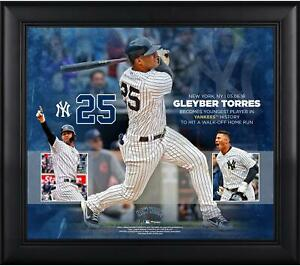 Gleyber Torres Framed 15x17 Youngest to Hit a Walk-Off HR in NYY History Collage